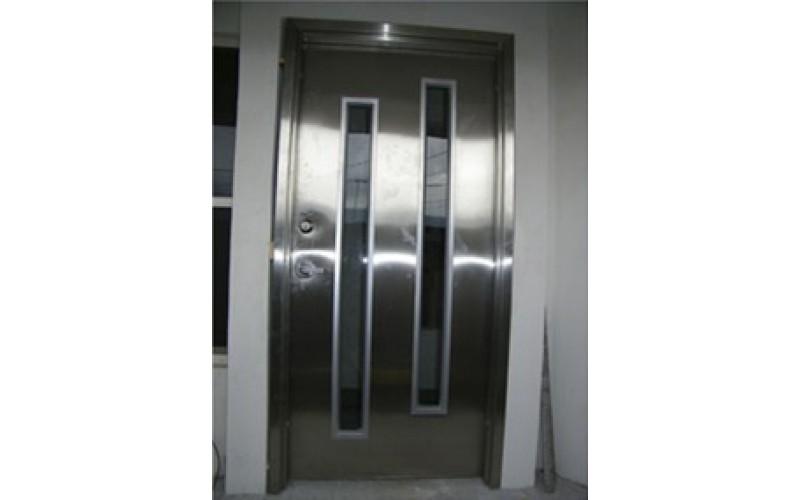 Puertas de acero galvanizado affordable nevera de - Puerta chapa galvanizada ...